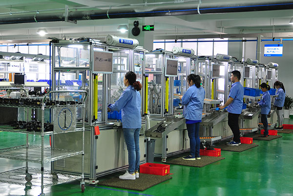 Electronic throttle production line